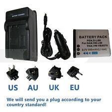 Battery DB-L80+CHARGER for Sanyo VPC-X1400 VPC-X1420 VPC-X1220 VPC-X1250