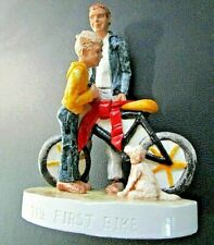 "VINTAGE1983 SEBASTIAN FIGURINE ""THE FIRST BIKE""-FATHER TO SON GIFT-EXCELLENT"