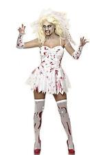 Graduation Zombie  Costume Bride Bloodstain Women Scary  Dead Fancy Dress