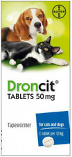Droncit Tapewormer for Cats and Dogs (Single Tablet), Premium Service, Fast Disp