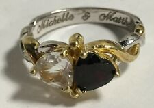 Bradford Exchange 24K Yellow Gold/Sterling Silver 2 Hearts Beat as 1 Ring - NICE
