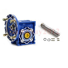 NMRV030 Worm Gear Reducer Ratio 10:1 Speed Reducer 56B14 for 120W Electric Motor