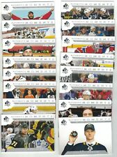 "2018-19 SPA ""AUTHENTIC MOMENTS"" 16 CARD SET #101-116 McDAVID OVECHKIN DAHLIN +++"