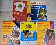 Lot KODAK Picture Paper, Post-it PHOTO Paper, MAGNET Sheets, T-Shirt TRANSFER