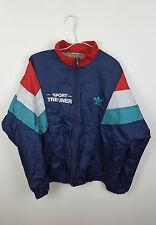 Vintage Rétro Bright Bold Athletic Sports Survêtement Adidas Top shellsuit Veste M