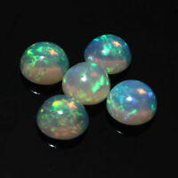 3 MM 10 PCS NATURAL ETHIOPIAN WELO FIRE OPAL CABOCHON'S CALIBRATED DDL92