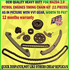 FOR MAZDA 3 / 5 / 6 MX5 2.0 PETROL TIMING CHAIN KIT ONLYWITH VVT GEAR ADJUSTER