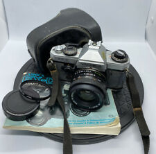 YASHICA FX-D QUARTZ 35mm FILM SLR CAMERA WITH YASHICA 50mm 1:2 ML Lens +Case