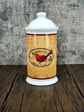 """New listing Sherwood Brands of RI """"Heaven and Nature Sing"""" 9"""" Christmas Ceramic Canister"""