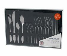 24 Piece Stainless Steel Kitchen Dining Cutlery Set - Six of Each Item
