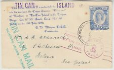 TONGA 1936 TINE CAN mail to NELSON, NEW ZEALAND with fancy cancels (1)