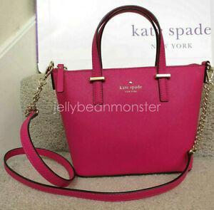 Kate Spade Harmony Cedar Street Leather Satchel Bag Crossbody Sweetheart Pink