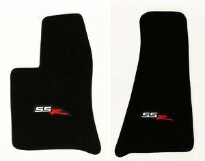 NEW! BLACK Front Floor Mats 2003-2004 CHEVY SSR Embroidered LOGO Pair, Set
