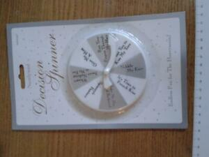 NewlyWed Decision Spinner  Idea to use as a best mans Speech prop
