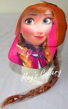 Disney Frozen Elsa Anna Baseball Cap Hat Base ball  pony tail Braided Hair Wig