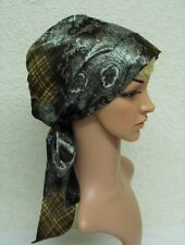 Velo, in raso tichel, testa di seta basso di Lenza Per Naturale Capelli Ricci, Head Wear