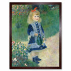 Auguste Renoir A Girl With A Watering Can Art Print Framed 12x16