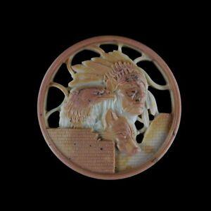 Native American Through-Carve Pendant Bead GB401151