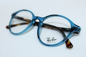 BRAND NEW RAY BAN RB 7118 8022 CLEAR BLUE HAVANA AUTHENTIC EYEGLASSES 50-19-145
