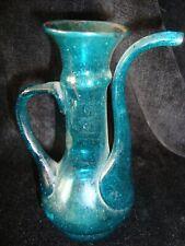 Blue Glass Spouted Ewer Jug