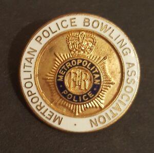 Metropolitan Police Bowling Association - Bowls Club - Rare Enamel pin Badge #6b