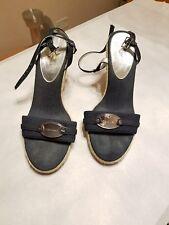 Calvin Klein Denim logo plate espadrilles sandals.Size  7.5.