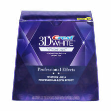 1 Box Crest3d Teeth Whitening Strips 20 Pouches USA Made 20 Days Full Treatments