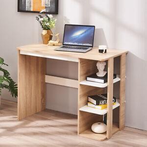Computer Desk Writing Table 3 Bookshelves Study Office Workstation 100cm