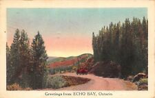 Echo Bay Ontario Canada 1949 Greetings Postcard Oncoming Truck