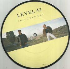 Level 42 - Children Say 1987 7 inch vinyl picture disc single