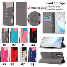 Luxury Leather Flip Card Wallet Phone Case Cover For Samsung Note10 Plus S8 S10E