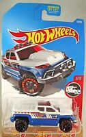 2017 Hot Wheels #18 Hw Rescue-RSQ 3/10 OFF-DUTY White/Blue w/Black OROH6 Spoke