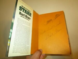 AUTOGRAPHED BART STARR GREEN BAY PACKERS BOOK