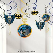 Batman Birthday Party - 12 Hanging Swirl Decorations - Free Postage in UK