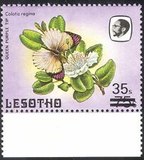 """Lesotho 1986 Surcharge 35s on 75s/Small """"s""""/Butterflies/Insects/Nature 1v n43235"""