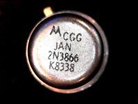 New Vintage Motorola Mil-Spec JAN 2N3866 NPN RF Transistor 30V 800 MHz 5W 400mA