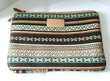 Dachee Laptop Case Sleeve  Brown Teal Coral