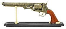 """NEW Civil War Decor 13"""" Colt Navy M1851 Six Shooter Diecast Pistol & Stand"""