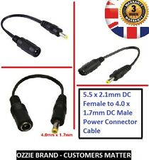 universal 5.5x2.1mm DC Female to 4.0x1.7mm 4x1.7 DC Male Power Connector Cable