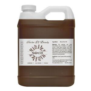 Neem nut oil organic unrefined cold pressed pure bulk 32 ounces hair skin plant