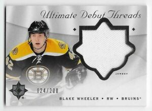 08/09 UD ULTIMATE COLLECTION DEBUT THREADS JERSEY #DTBW Blake Wheeler #24/200