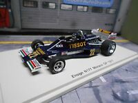 F1 ENSIGN N177 Ford Cosworth V8 Monaco 1977 #22 Ickx Tissot Spark Resin 1.43