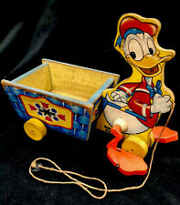 Fisher Price 605 Donald Duck Vintage Pull Toy 1956