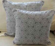 GREY AND WHITE PATTERNED CUSHION COVERS - 2 SIZES AVAILABLE 40 X 40CM  50 X 50CM