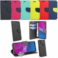 Housse etui coque pochette portefeuille pour Motorola One Vision + verre trempe