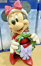 More details for disney traditions 17 inch minnie mouse christmas greeter decoration jim shore