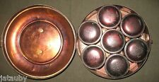 VINTAGE PRIMITIVE RED TIN SPICE SET COMPLETE METAL TIN CRIMSON TOP Antique