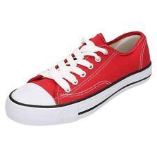 Zapatos planos de mujer en rojo, talla 39