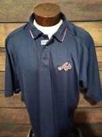 Atlanta Braves Mens 2XL XXL Blue Short Sleeve Golf Polo Shirt NWOT Majestic