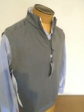 Bobby Jones Rule 18 Performance Fabric Quarter Zip Vest NWT  Large $135 Gray